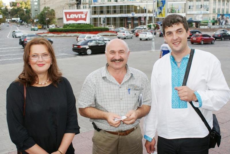 А. Павленко с представителями украинской диаспоры
